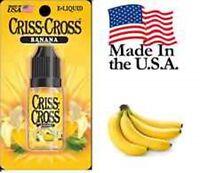 Banana Criss Cross Vape Vapor USA 10ML Bottle (18 MEDIUM) - $4.99
