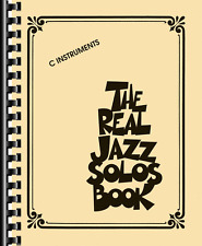 """""""THE REAL JAZZ SOLOS BOOK"""" FOR C INSTRUMENTS-MUSIC BOOK-FAKE BOOK-BRAND NEW-SALE"""