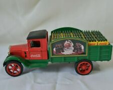 Coca Cola Die Cast Metal Delivery Truck Bank Christmas Santa 1931 Hawkeye ERTL