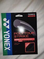Cheapest Price Anywhere!! Yonex Poly Tour Strike 1.25 16L String (Black)
