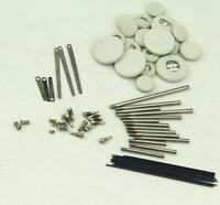 1Set Clarinet repair parts screws+ Clarinet Leather pads Complete Set of 17 pads