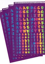 4 large Sheets Alphabet ABC Upper Lower Case stickers! Rainbow Letters!