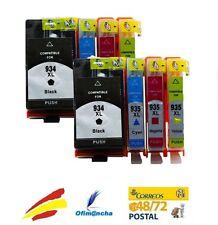 8 Cartuchos Tinta NonOem HP 934 / HP 935 XL para OfficeJet Pro 6230 6830 6835
