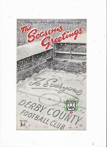 1950/51 DERBY COUNTY v TOTTENHAM HOTSPUR (Spurs League Championship Season)