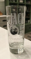 "JACK DANIELS Old No 7 Brand Tennessee Whiskey 6"" Tall Highball Clear Glass"