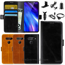 For LG V40 ThinQ / V40 Flip Leather Wallet Case Magentic Phone Protective Cover