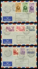 Syria Syrie 1956  Three covers commemmorating visit of Jordan King Hussein