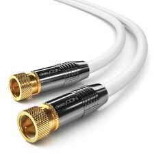 10m Sat Kabel Digital TV Koax Antennenkabel F-Stecker Koaxial Kabel HDTV 4k UHD