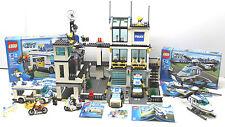 2008 Lego 7744+7286+7741 City Police Station 1200+ pcs 3 Sets 99% Complete+Instr