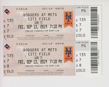 2019 September 13 New York Mets Vs Dodgers TICKET Gavin Lux Home Run Kershaw win