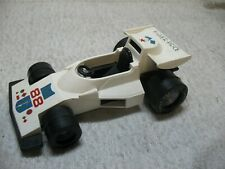 1975 Vintage Fisher-Price Formula-One #308 White Plastic Toy 7 Inch Race Car