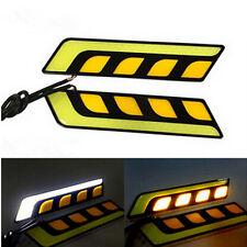 Universal LED DRL Daytime Running Lights + Turn Signal Indicators car van Y/W