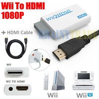 AGPtek Wii To HDMI 720P 1080P Converter Adapter Full HD Video + HDMI Cable 5ft