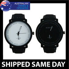 JUMBO FASHION MENS WOMENS WATCH Faux Leather Army Military Ladies Gold Dress 23
