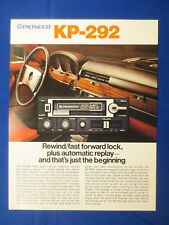 Pioneer KP-292 Car Cassette Sales Brochure Factory Original The Real Thing