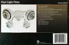 Casablanca Snow White Four Light Fan Fitter Kit - White - 99029 - NEWQ