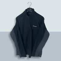 Mens Black Berghaus 1/4 Zip Fleece Jacket - Size Large (L) V15