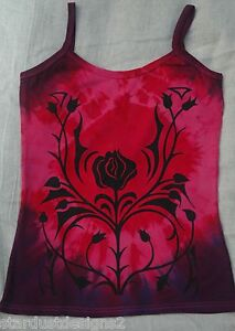 Gothic Rose T SHIRT  TOP  PAGAN FESTIVAL GOTHIC SIZES 8 to 26