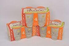 (12 Glasses) Vintage ARCOROC Made in France Lancer Juice Whiskey Glass 16cl