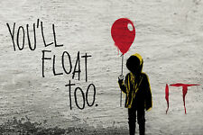 Poster IT (ES) - Graffiti - You´ll Float Too - Banksy Style 91,5x61cm NEU 59104