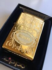 24k Gold Plated Genuine Zippo Lighter AMERICAN CLASSIC 24751 Gift 24ct USA Made