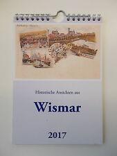 Wandkalender Historische Ansichten aus Wismar 2017 - Postkartenkalender.