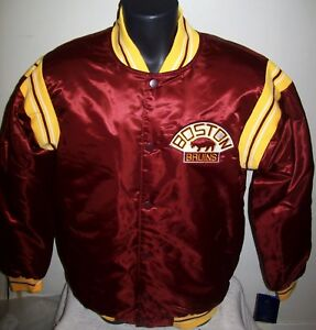 BOSTON BRUINS NHL STARTER Satin Jacket Original STARTER Traditional LARGE Maroon