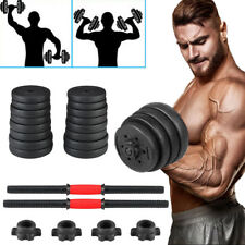 Weight Dumbbell Set Adjustable Cap Gym Barbell Plates Muscle Body Building USA