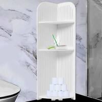 Tall Wood Bathroom Toilet Cabinet Shelf Cupboard Storage Unit Free Standing Rack