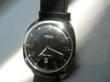 Fossil Automatic men's water resistant black leather band & Analog watch.Si-1017