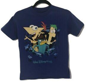 Walt Disney World Phineas And Ferb T Shirt Boys Size M Hanes