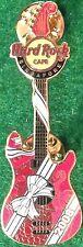 Hard Rock Cafe SINGAPORE 2008 CHRISTMAS PIN Ribbon & Bow GUITAR - HRC #47966