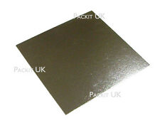 """5 X 14"""" Inch Square Silver Cake Board 3mm Double Thick"""