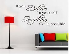Wall stickers Anything is possible Quote Removable Art Vinyl Decor Home Kids Au