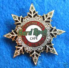 STAFF INT REWARD XMAS ICE SNOWFLAKE 1995 JOY TO THE WORLD Hard Rock Cafe PINS