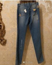 ESCADA Swarovski Crystal Elements Jeans With Gold Rips. NEW** RRP £825