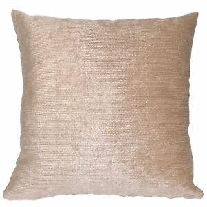vb04a Light Brown Beige Stripe Thick Cotton Blend Cushion Cover/Pillow Case Size