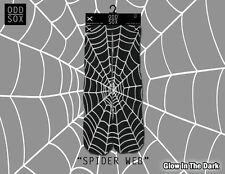 ODD SOX SOCKS SPIDER WEB GLOW IN THE DARK STAND OUT FROM THE CROWD HALLOWEEN !!