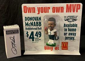 Rare 2001 Donovan McNabb McDonald's Bobble Head Counter Top Promotion Mint