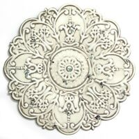 Small Metal White Medallion Hanging Interior Wall Art Home Decor