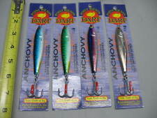 4 ea Nib Point Wilson Dart Anchovy Irons 2 oz. Jigs Big Game Fishing Lures