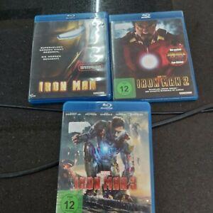 Iron Man  1 2 3   Blueray  3 Blu Ray  Robert Downey Jr.