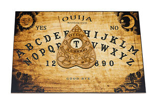 Wooden Ouija Spirit Hunt Board game And Planchette with instruction