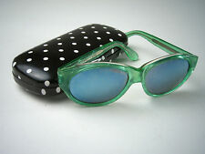 1970s Vintage MICHELE LAMY France 'CREOLE' Kelly Green SUNGLASSES Nice!