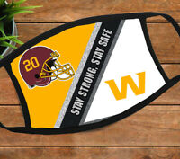 Washington Football Team Washington Redskins stay strong stay safe face mask