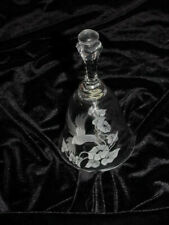 Avon Hummingbird Bell - 24% Full Lead Crystal - Hand Cut Design - Label Intact