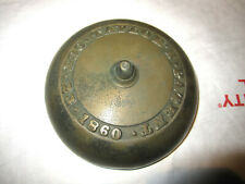ANTIQUE CAST BRONZE TAYLOR'S PATENT BELL PATENTED OCT. 23, 1860 GOOD COND.