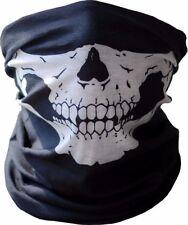 Black Skull Microfiber Bandanna Ski Biker Paintball Mask Scarf Neck Warmer