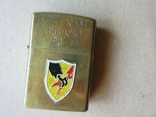 Zippo Vietnam Binh Long 68-69 US Army Sturmfeuerzeug Soldier Marnies Nam Rar!