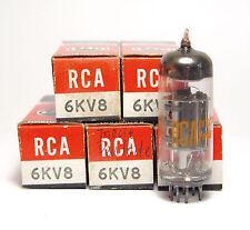 5x RCA 6kv8/6 KV 8 tubo, triodo/pentode, ECF tubes, nos